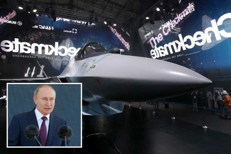 Russia unveils 1,500mph AI stealth fighter jet to rival America's F-35s… and takes swipe at Britain