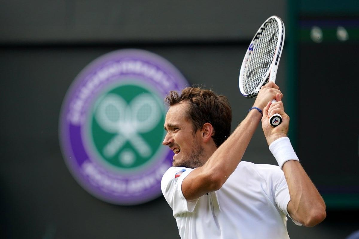 Second seed Daniil Medvedev claims comeback win over Marin Cilic at Wimbledon