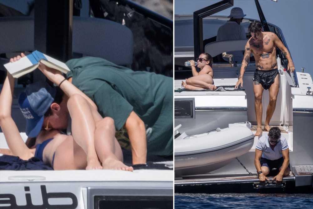 Shirtless Harry Styles kisses Olivia Wilde on romantic Italian getaway