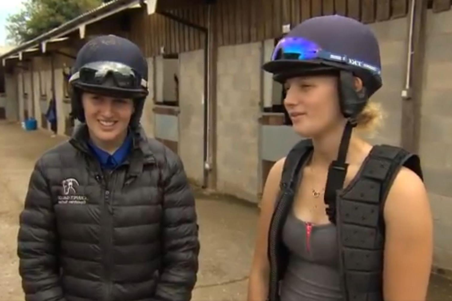 Sister jockeys Abbie and Ella McCain land outrageous 132-1 double on horses trained by proud dad Donald