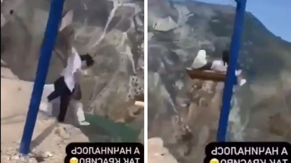 Stomach-Churning Moment Swing Above 6,300ft-High Canyon SNAPS