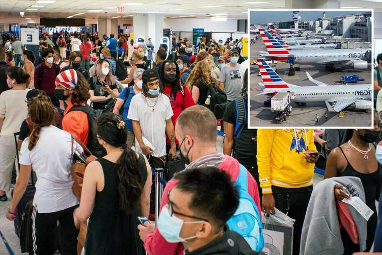 Summer travel hell as 500 flights a day are cancelled over pilot shortages just as passenger numbers triple after Covid
