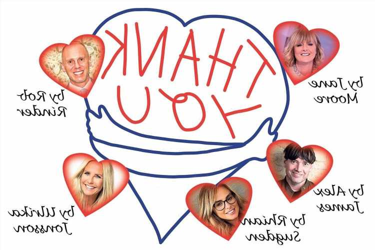 Sun writers Ulrika Jonsson, Rob Rinder, and Jane Moore reveal what they are thankful for