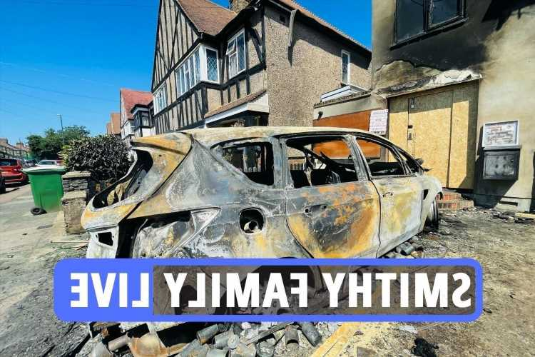 The Smithy Family fire latest – TikTok sensations' London home burns down after CCTV shows arsonists setting fire to car