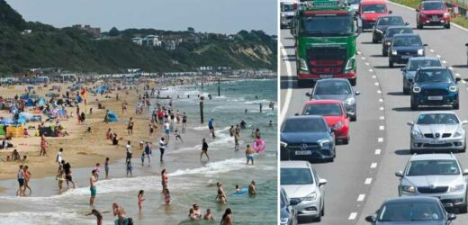 UK weather – Flood warnings as thunderstorms will end 32C heatwave and 11.5m drivers to hit road for weekend getaway