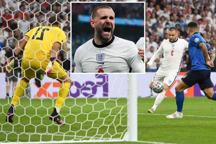 Watch Luke Shaw make history by giving England early lead on eve of his birthday in Euro 2020 final vs Italy