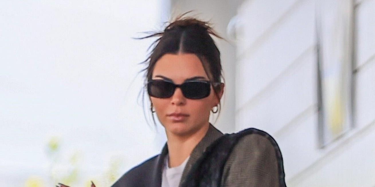 We Don't Know What's More Confusing: Kendall Jenner's Perplexing Blazer or Her Enormous Bag