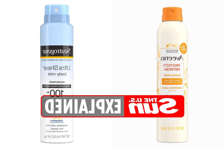 Which Neutrogena and Aveeno sunscreens were recalled?