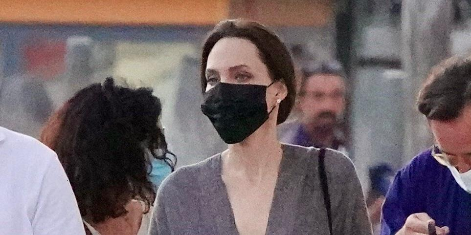 Angelina Jolie Is Making This Comfortable Oversized $24 Beach Trend Her Signature Look