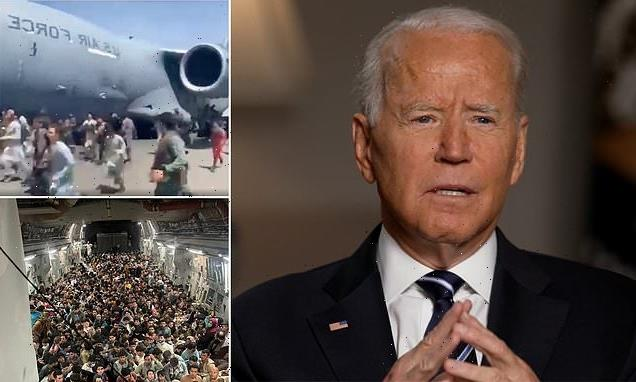 Biden snaps at question about Afghans falling from planes in Kabul