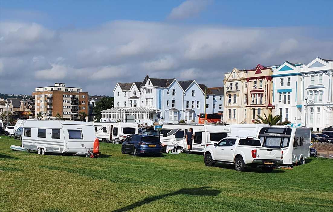 Dozens of travellers descend on Devon beauty spot as locals blast: 'It's RUINED summer'