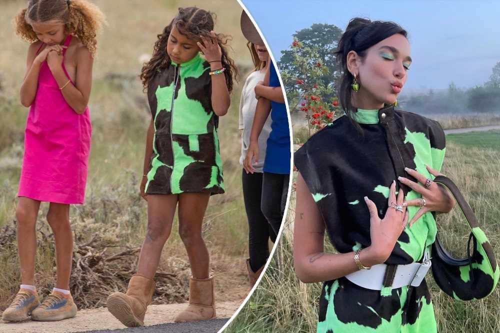 Dua Lipa, 26, wears same cow-print dress North West, 8, once wore