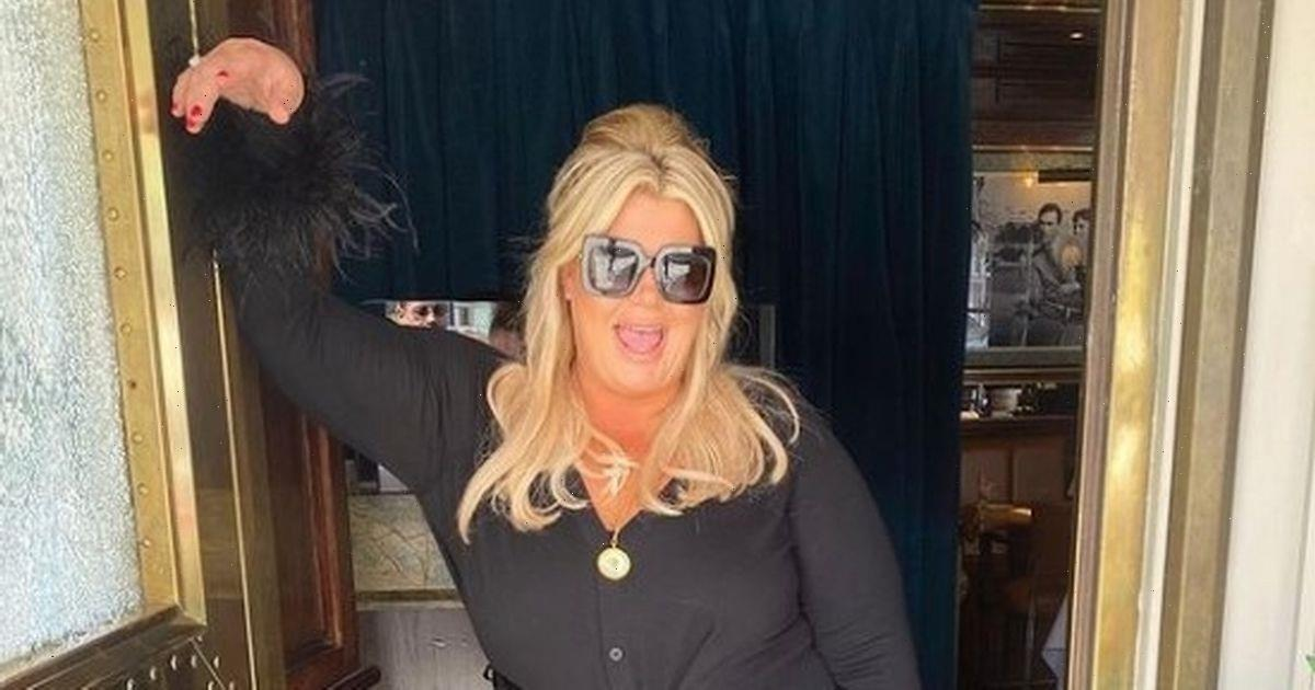 Gemma Collins shows off three stone weight loss as she poses in designer outfit