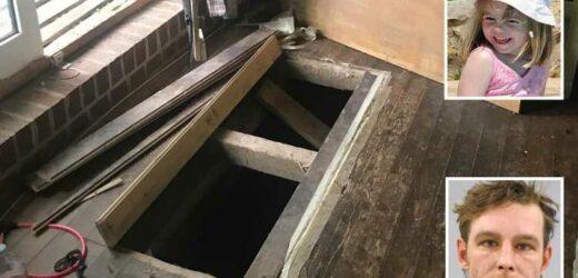 Inside Madeleine McCann suspect's 'secret cellar lair' dug underneath his German home as cops searched for clues