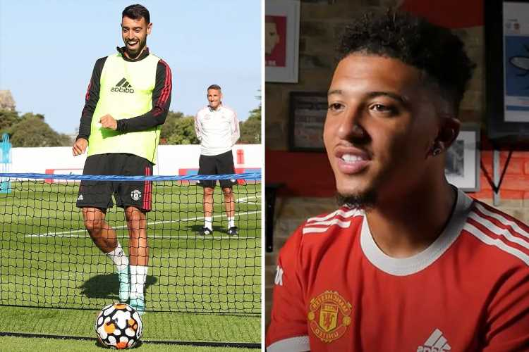 Jadon Sancho excites Rio Ferdinand by revealing he and Man Utd star Bruno Fernandes are already linking up in training