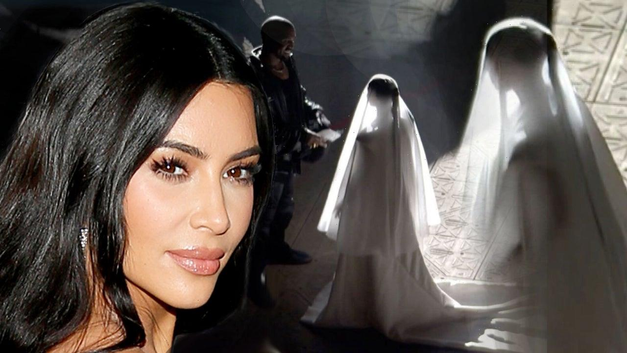 Kim Kardashian Shares New BTS Wedding Gown Pic From 'Donda' Event