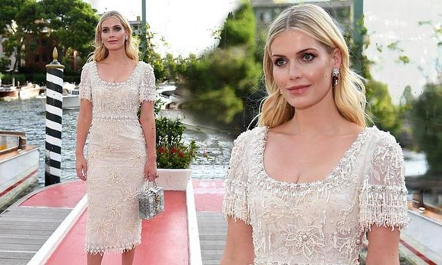 Lady Kitty Spencer is radiant for the Dolce and Gabbana fashion show