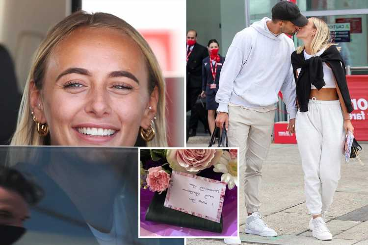 Love Island's Millie shocked as she receives adorable surprise from Liam as quarantine keeps them apart