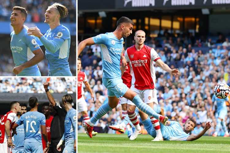 Man City 5 Arsenal 0: Sorry Gunners go BOTTOM of the Premier League after hitting desperate new low in Etihad mauling