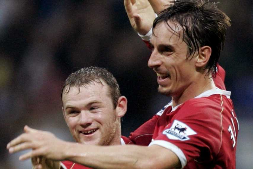 Man Utd legend Wayne Rooney is best centre forward I've seen at club, says former team-mate Gary Neville