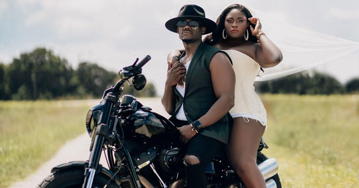 Motorcycles and Pearls? See Danielle Brooks and Dennis Gelin's Badass Engagement Photos