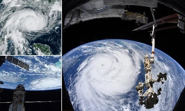NASA images show Hurricane Ida from space