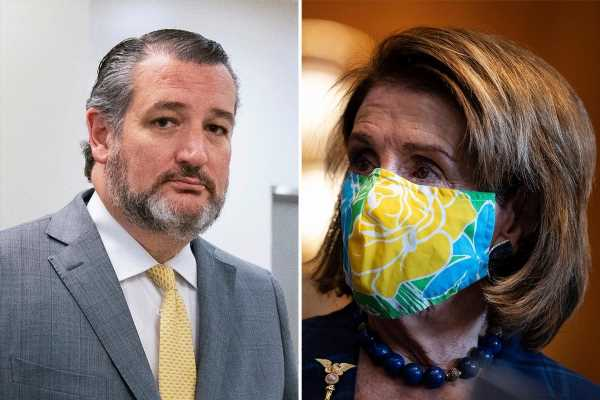 Pelosi is 'drunk on power' for threatening to fine Congress representatives for not wearing masks, Ted Cruz says