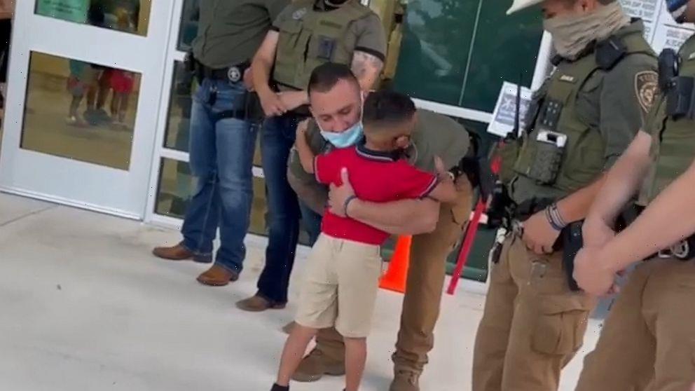 Sheriff's deputies escort fallen detective's son to 1st day of kindergarten