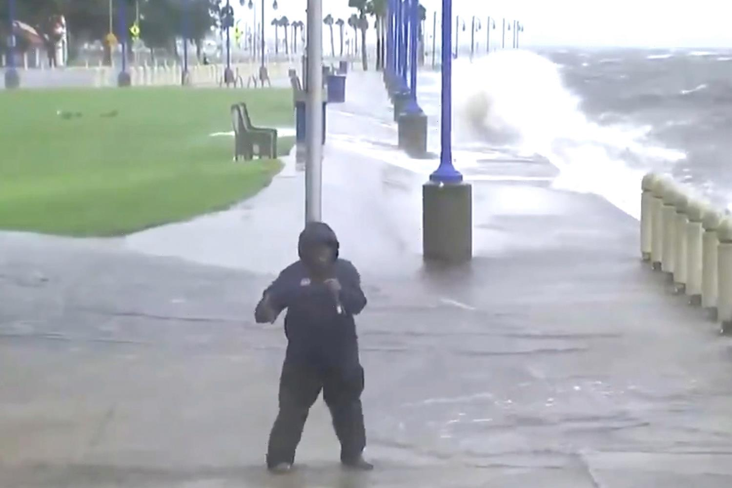 Shocking moment Al Roker is pummeled by waves reporting on Hurricane Ida in New Orleans as host recovers from cancer