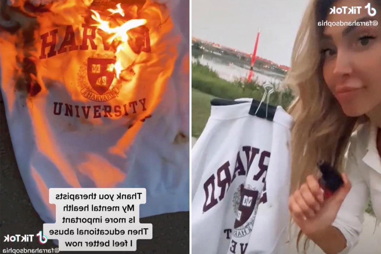 Teen Mom Farrah Abraham SETS FIRE to Harvard sweater after calling her teachers 'sexist bullies'