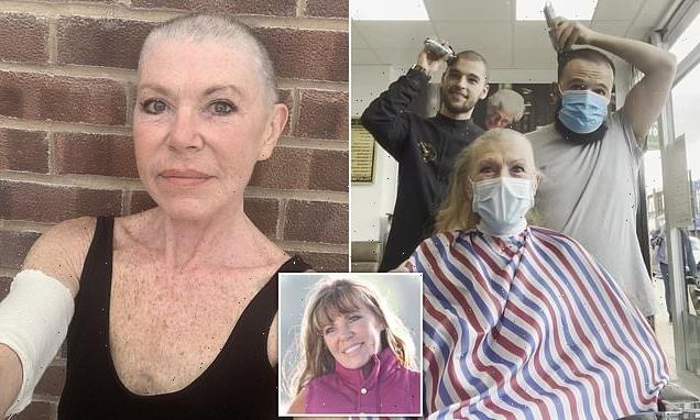 VIDEO: Barbers surprise cancer patient by shaving their own heads