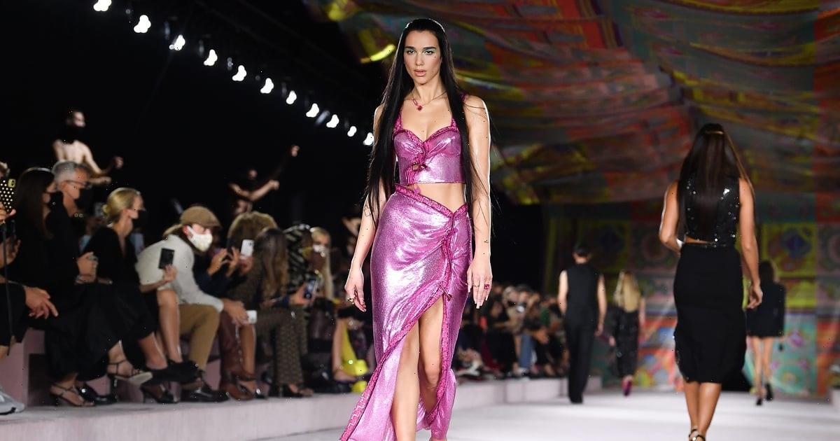 Add It to Her Résumé! Dua Lipa Made Her Runway Debut During Versace's Fashion Week Show