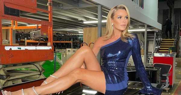 Amanda Holden flaunts figure in tiny minidress as she flashes never-ending legs