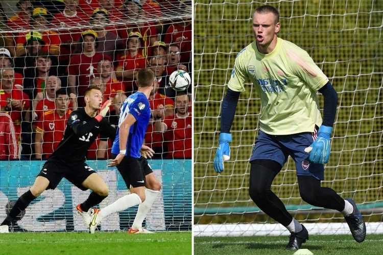 Arsenal fourth-choice rookie keeper Karl Hein hopes superb display for Estonia in Wales will catch Mikel Arteta's eye