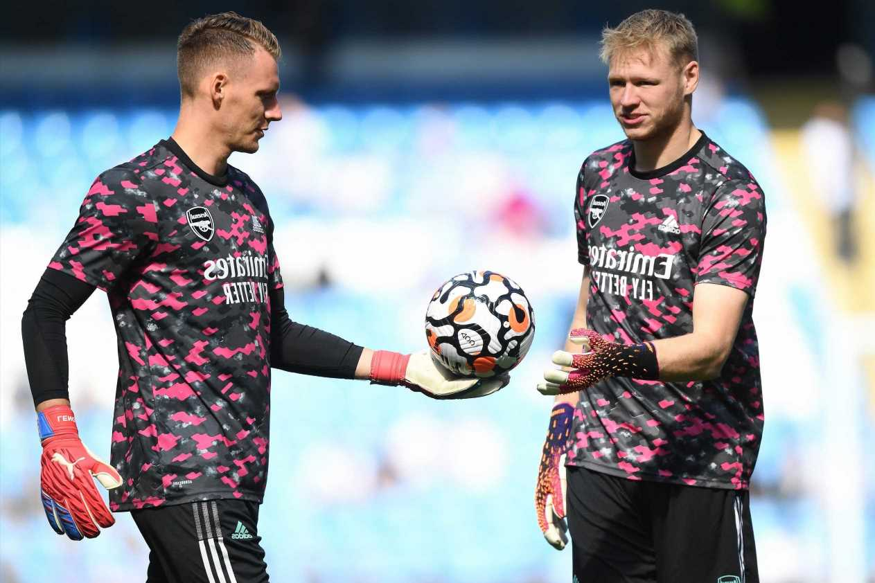 Arsenal star Aaron Ramsdale gearing up for daily battle with Bernd Leno to prove he is No1