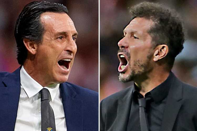 Atletico Madrid coach given three-game ban for punching Unai Emery's Villarreal assistant in mouth during tunnel brawl