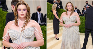 Barbie Ferreira's Met Gala Dress Needs to Be Seen From Sea to Shining Sea — Look at Those Pearls!