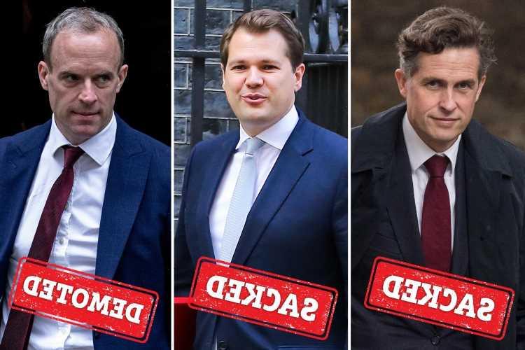 Cabinet reshuffle 2021 LIVE: Dominic Raab demoted as Gavin Williamson and Robert Jenrick AXED in Boris's reshuffle