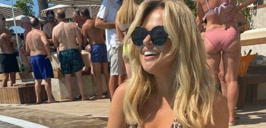 Emily Atack spotted snogging mystery hunk on holiday after Jude Taylor split