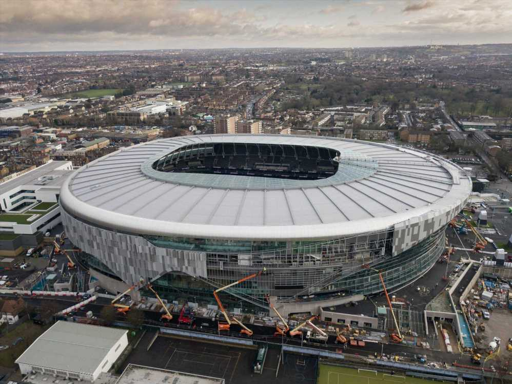 Fire breaks out at Tottenham Hotspur Stadium with 300 people evacuated as fire fighters tackle blaze