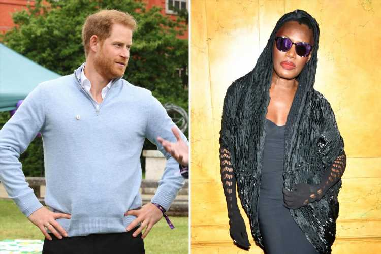 Grace Jones jokes she 'couldn't handle Prince Harry' as she jets into UK for Wellchild event