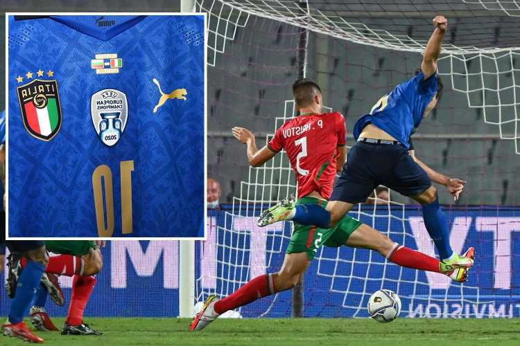 Italy show off new Euro 2020 champions shirt in first match since beating England but Bulgaria rain on their parade