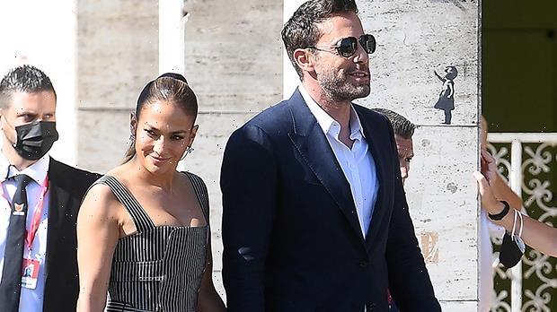 J.Lo Holds Ben Afflecks Hand As She Rocks Black Dress For Venice Film Festival  Photos