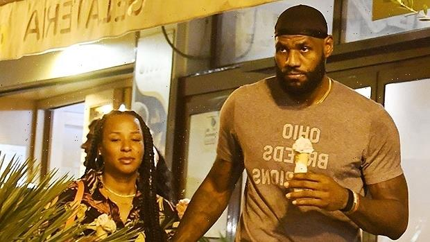 LeBron James & Wife Savannah Hold Hands On Sweet Ice Cream Date While Vacationing In Italy