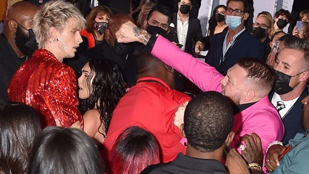 MGK Dodges Punch Thrown By Conor McGregor At VMAs While Megan Fox Was In His Arms: Report