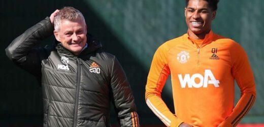 Man Utd boost as Ole Gunnar Solskjaer confirms Marcus Rashford is on track to return from shoulder injury NEXT MONTH