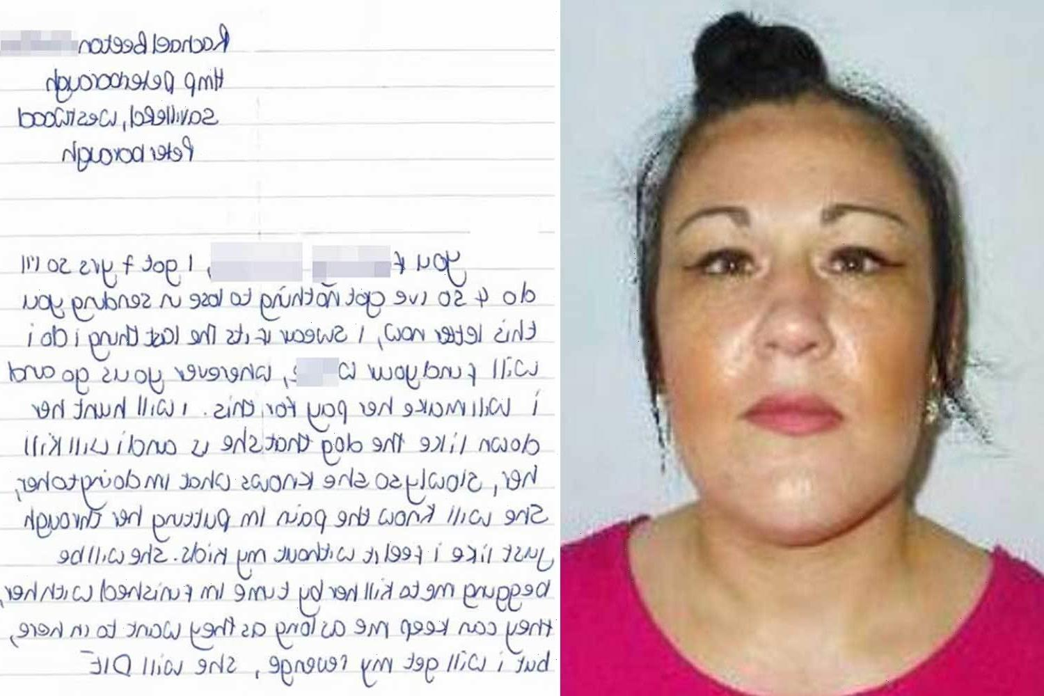 Mum who planned to murder her ex and 'hunt down' his new lover 'like the dog she is' goes on the run from police