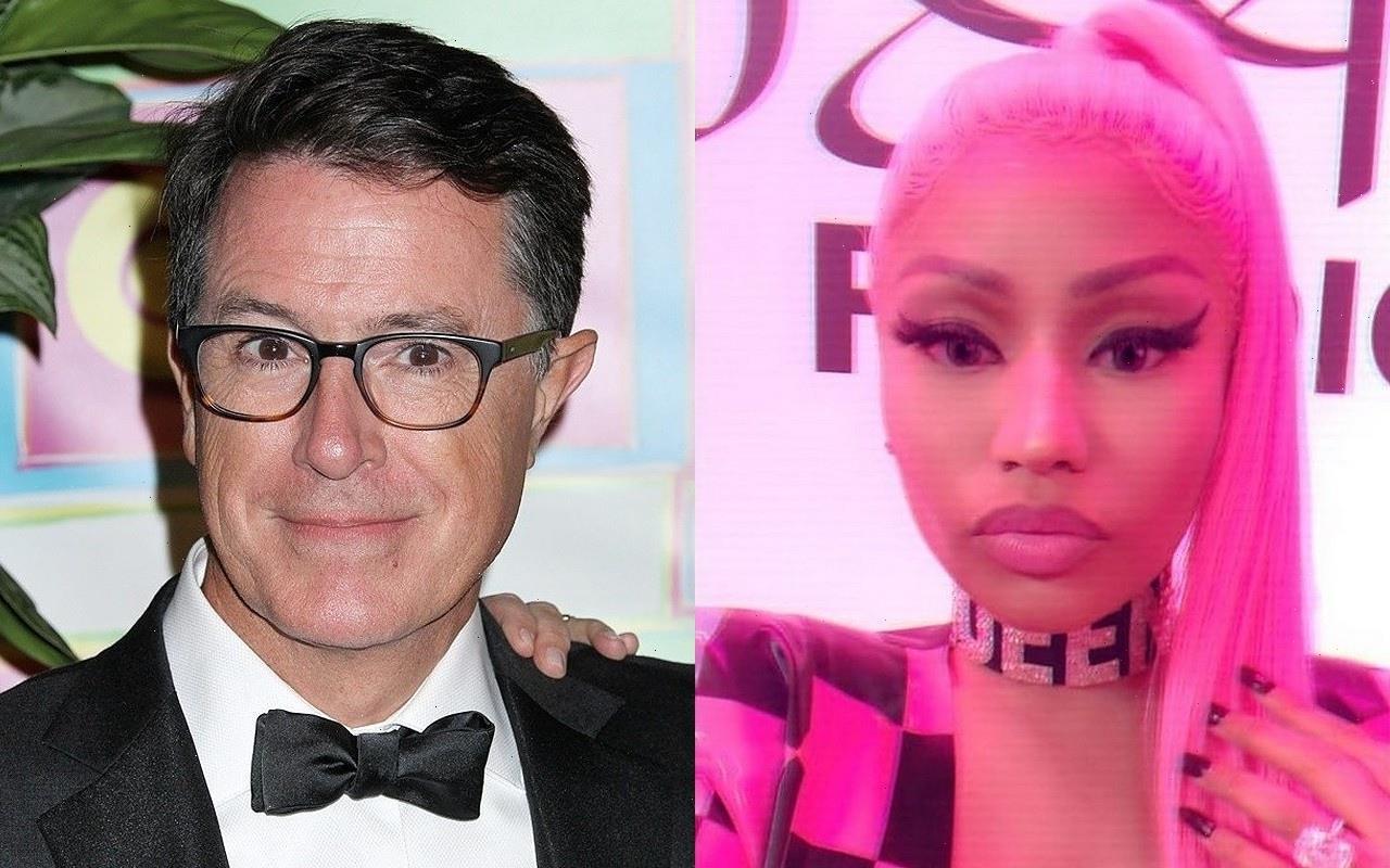 Nicki Minaj Dissed by Stephen Colbert Over Vaccine Impotency Claims