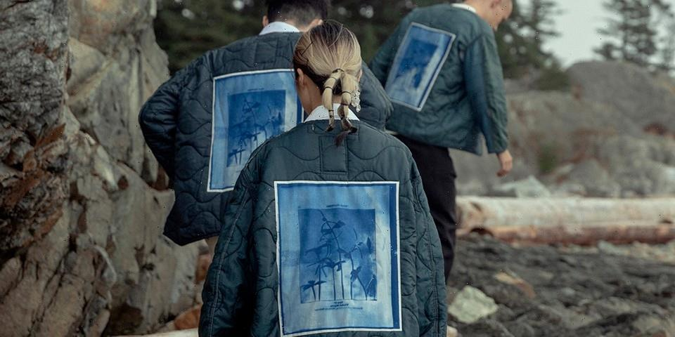 OAMC Links With Roden Gray for Cyanotype Graphic Liner Jackets