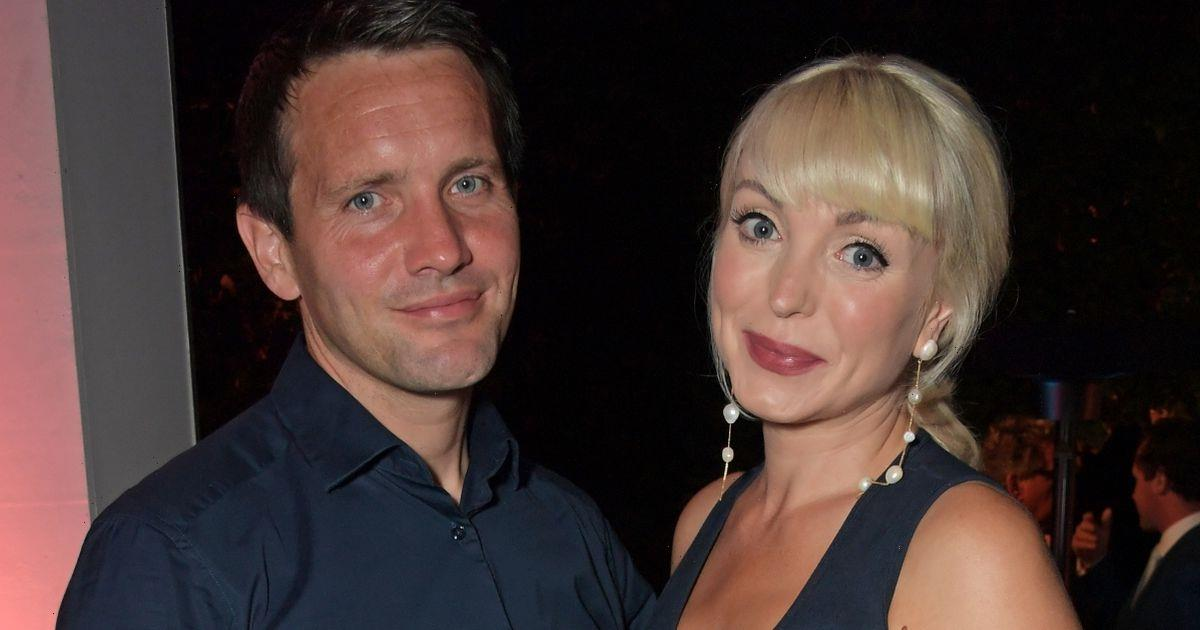 Pregnant Helen George shows off bump during glam night with husband Jack Ashton